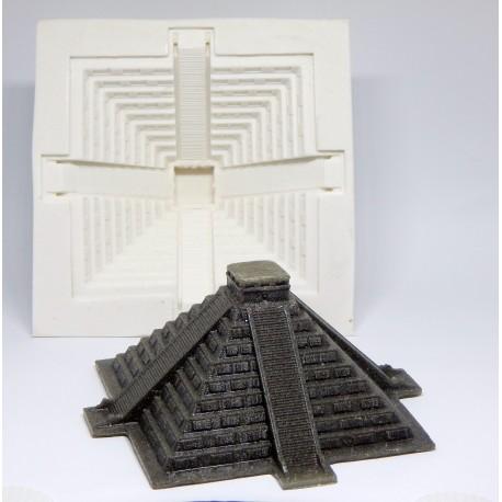 Forma de silicone Pirâmide Mexicana Chichén Itzá